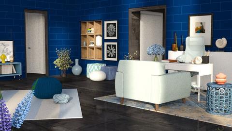 blue office - Modern - Office  - by RimaNina