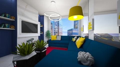 yellbluegreen - Living room - by Kayla Roze