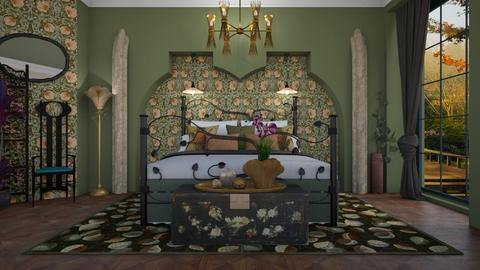 Art Nouveau - Bedroom  - by Nicky West