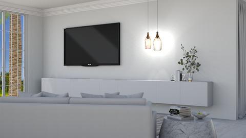 Minimalistic White - Modern - Living room  - by KittyKat28