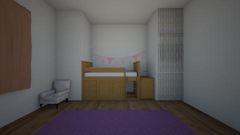 girls room - Minimal - Kids room  - by goldenfang11