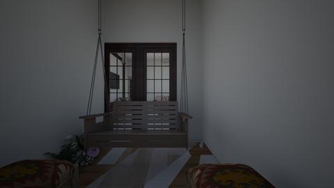 Balcony - Living room  - by pratibharoom