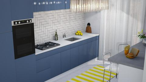 BLUE AND YELLOW - Classic - Kitchen  - by Galstyler