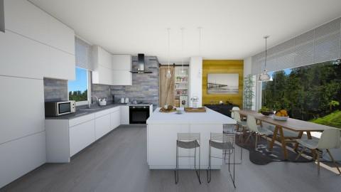 cozinha farm - Modern - Kitchen  - by sahfs