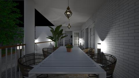 Terrace at night4 - Garden  - by lovasemoke