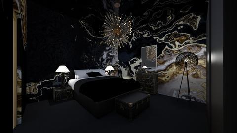 Dark Bedroom - Modern - Bedroom  - by LD16