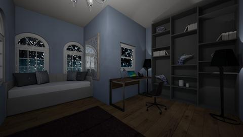 My Stormy Bedroom - Bedroom  - by Ellie DeSmith