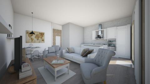 Apartment second view - Rustic - Living room  - by Karolina Gajda