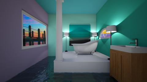 A mermaids bath room - by SadieRose