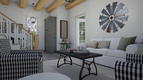 Modern farmhouse - Living room - by Tuija