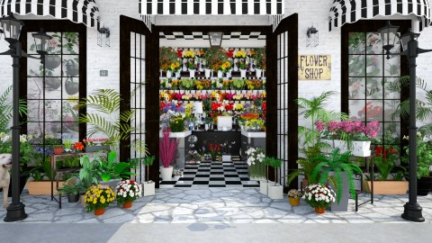 Design 136 Flower Shop - Garden - by Daisy320