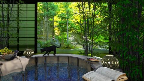 Relaxing Bamboo Pool - by Yavanna