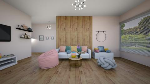 Soft colour living room - Living room  - by ATHENANn