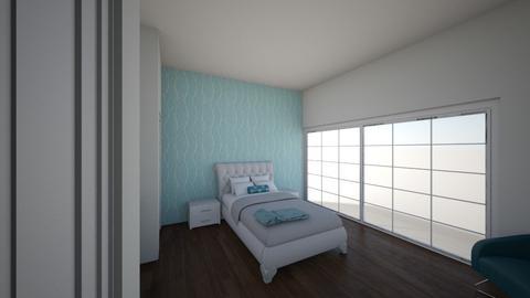 Blue Room - Minimal - Bedroom - by Emily Rushton