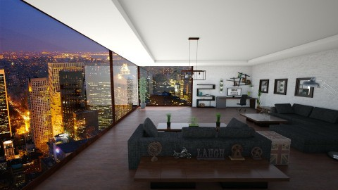 City View - Eclectic - Living room  - by xrhstos