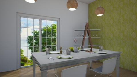 Light Wood and Green - Dining room  - by kyramargarete19