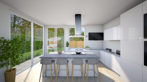 Sleek white kitchen - by tornadolynn