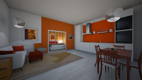 Orange and White comp 1 - Modern - by greekgirl37