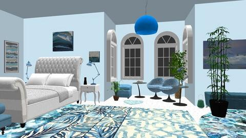 blue - Bedroom - by joanneonline