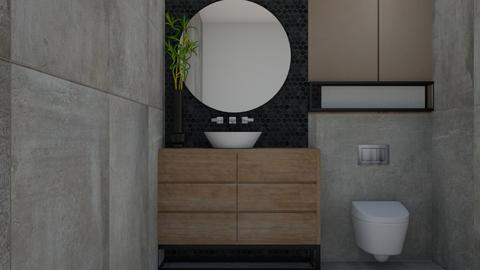concret bath - Modern - Bathroom  - by szaboi