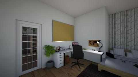 artsy room - Bedroom - by zuziapawlowska