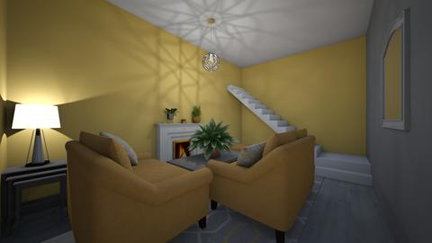 Yellow Living Room - Living room - by bluerover227