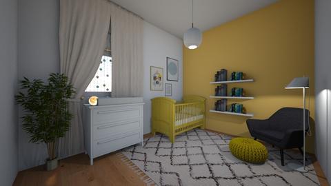 nursery yellow - Minimal - Kids room  - by yaelygreen