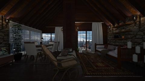 cozy - Living room - by Grigoria Popli