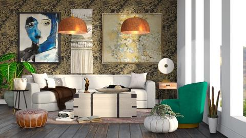 Eclectic - Living room  - by millerfam