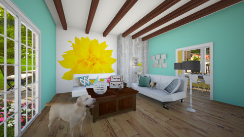 green - Living room - by Megan Kndsen