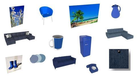 All types of blue - by Noa Jones