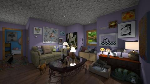 Cat Ladies - Living room - by chocolatedonut71