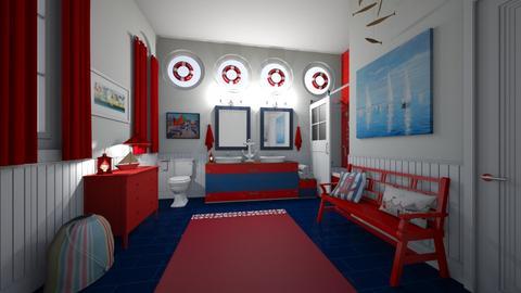 nautical kids - Bathroom  - by hillygabe
