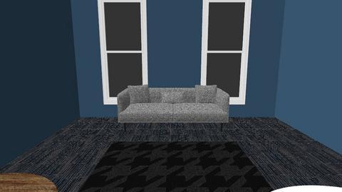dark grey floor - Living room  - by CatfishJohn