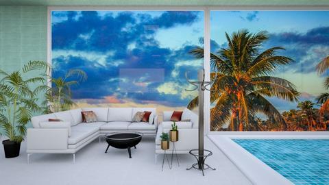Pool Side Living room  - Garden  - by khinphyucinhtet