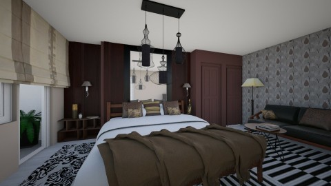 5 star redesign - Eclectic - Bedroom  - by gloria marietti