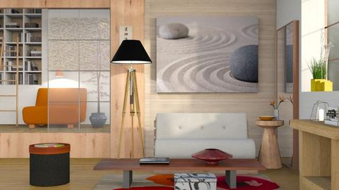 Japanese Art Home - Minimal - Living room - by Sally Simpson
