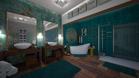 T nd G Bathroom - Modern - by Hannah_4647