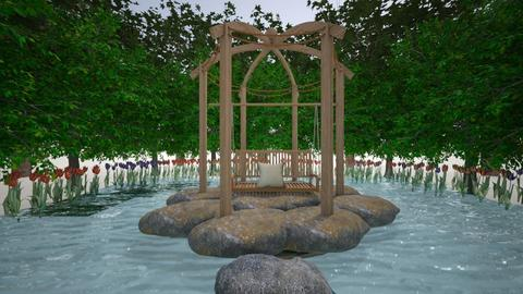 peaceful pond - Garden  - by Hansitha Designs