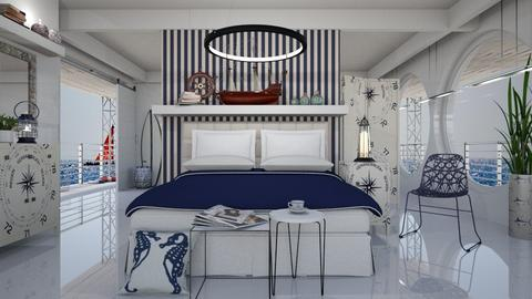 nautical bedroom  - Eclectic - Bedroom  - by Ida Dzanovic