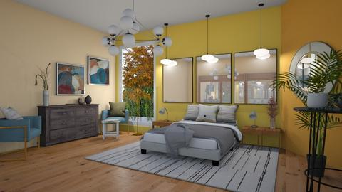 Yellowish bedroom - Bedroom  - by Niva T