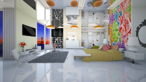 fresh bedroom 7 - Modern - Bedroom  - by Evangeline_The_Unicorn