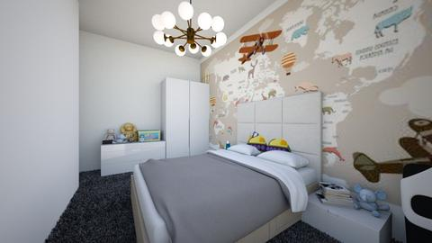 Casa Otopeni etaj - Bedroom - by Art3miys