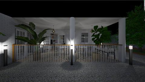 Terrace at night - Garden  - by lovasemoke