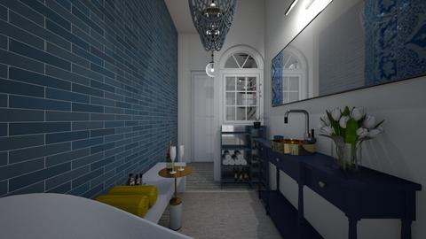 Eclectic_master bathroom2 - Bathroom  - by lovasemoke