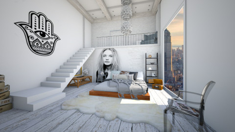 Bedroom with a View - Rustic - Bedroom  - by nyc17