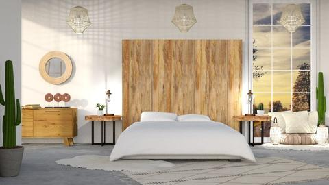 wood - Modern - Bedroom  - by NEVERQUITDESIGNIT