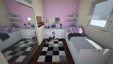 quarto feminino - Bedroom - by Brunalimaporfirio