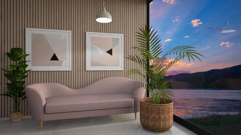 Simple Pink - Living room  - by Meghan White