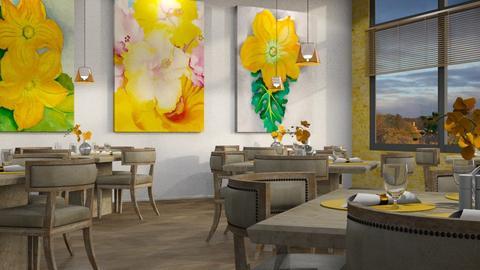 Georgia O Keeffe Dining - Dining room - by GraceKathryn